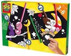 Ses  knutselspullen Ik leer kleuren beren & vogels
