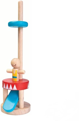 Plan Toys houten leerspel Jumping Acrobat