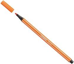 Stabilo  teken en verfspullen pen 68 geelrood