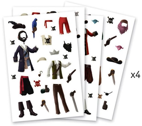 Djeco Stickers Les pirates-3
