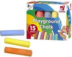 Clown buitenspeelgoed stoepkrijt 15st