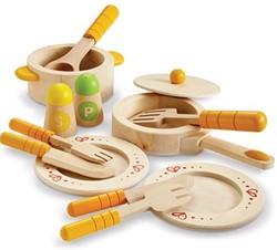 Hape houten keuken accessoires keuken startersset