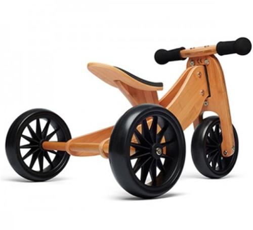 Kinderfeets houten loopfiets & driewieler Tiny Tot Bamboo