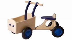 Van Dijk Toys houten Bakfiets blauw - berken
