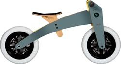 Wishbonebike houten loopfiets 2-bikes-in-1 grijs