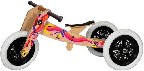 Wishbonebike houten loopfiets 3-bikes-in-1 limited edition muziek