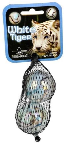 Don Juan  buitenspeelgoed Knikkers white tiger 42mm